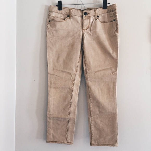 Mossimo Supply Co. Denim - tan / khaki cropped ankle jeans pants 7 / 28/29